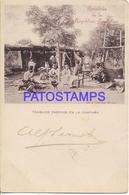 131386 ARGENTINA COSTUMES COSTUMBRES TRABAJOS CASEROS EN LA CAMPAÑA GAUCHO ED PEUSER CIRCUALTED TO URUGUAY POSTCARD - Argentina