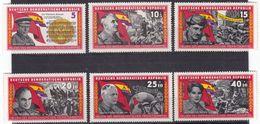 Germany DDR 938/43 - Resistance Heroes 1966 - MNH - Celebrità