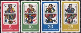 Germany DDR 1040/43 - German Playing Cards 1967 - MNH - Giochi