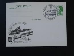 Entier Postal Stationery Card Liberté De Gandon Voyage Inaugural TGV 34 Montpellier Herault 1982 - Trains
