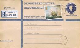 JERSEY - Entier Postal Avec Complément D'Affranchissement - Lettre Recommandée - Jersey