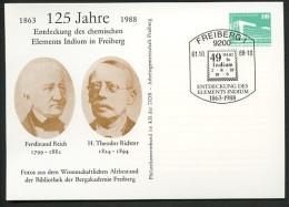 DDR PP18 C2/006 Privat-Postkarte ENTDECKUNG INDIUM REICH RICHTER Freiberg Sost.1988  NGK 5,00 € - [6] Oost-Duitsland