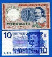 Pays Bas  2  Billets  De  10  Gulden - [2] 1815-… : Kingdom Of The Netherlands