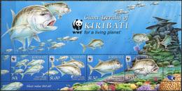 Kiribati 2012. The Giant Trevally (MNH OG) Block With Designed Fields - Kiribati (1979-...)