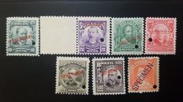 O) 1906 BRAZIL, PROOF - SPECIMEN PUNCH, ARISTIDES LOBO SC 174, BENJAMIN CONSTANT SC 175, PEDR ALVARES CABRAL SC 176, EDU - Brazil