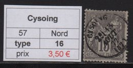 Cysoing - Nord - Type Sage - 1877-1920: Periodo Semi Moderno