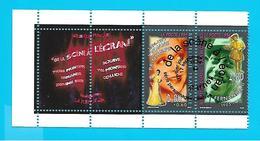 Cachet 1er Jour Série Personnages Célèbres De La Scène à L'écran, 2 Vignettes, 2 Timbres, Fernandel - Marcofilia (sobres)