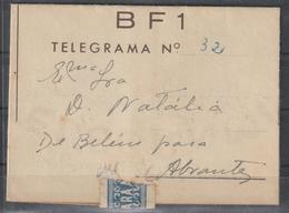 TELEGRAMA DE LISBOA PARA ABRANTES - 1910-... República