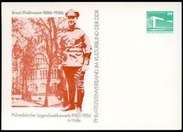 DDR PP18 C2/009b Privat-Postkarte 2. Auflage ERNST THÄLMANN Halle 1985  NGK 3,00 € - Postales Privados - Nuevos