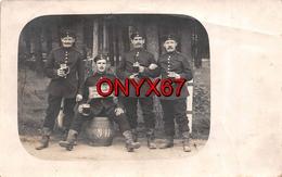 Carte Postale Photo Militaire Allemand ZEITHAIN (Allemagne-Deutschland-Dresden-Meissen Sachsen) Groupe Soldats Soldaten - Zeithain
