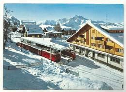 CPM Villars Sur Ollon Alpes Vaudoises La Gare Avec Train Et Les Dents Du Midi - Gares - Avec Trains