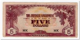 MALAYA,JAPANESE GOVERNMENT,5 DOLLARS,5 DOLLARS,1942,P.M6c,VF - Filippijnen