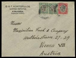 1927, Tanganjika, 84, 82 (2), Brief - Timbres