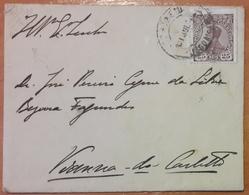Portugal - COVER - Stamp: 25 Reis D. Manuel II (1910) - Cancel: Lisboa Gare + Viana Do Castelo (Vianna Do Castello) - 1910 : D.Manuel II