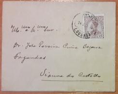Portugal - COVER - Stamp: 25 Reis D. Manuel II (1910) - Cancel: Lousada + Viana Do Castelo (Vianna Do Castello) - 1910 : D.Manuel II