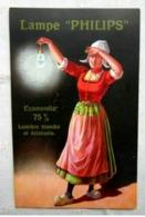 CPA Publicitaire Lampe PHILIPS - Werbepostkarten