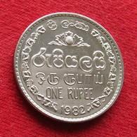 Sri Lanka 1 One Rupee 1982 KM# 136.2 - Sri Lanka