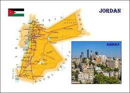 Jordan Country Map New Postcard Jordanien Landkarte AK - Jordania
