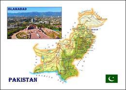 Pakistan Country Map New Postcard Landkarte AK - Pakistán