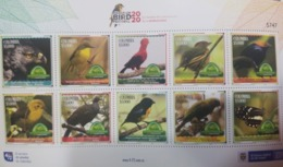 U) 2020, COLOMBIA, RISARALDA, BIRDS IN THE SANCTUARY OF RISARALDA,  BIRD FESTIVAL 2020, MNH - Colombia