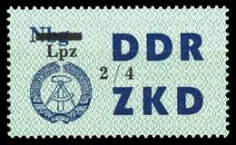 1964, DDR Verwaltungspost C Laufkontrollzettel ZKD, 54 IV, * - [6] République Démocratique