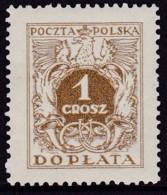 POLAND 1934 Postage Due Fi D65II Mint Never Hinged - Impuestos