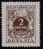 POLAND 1934 Postage Due Fi D66I Mint Never Hinged - Impuestos