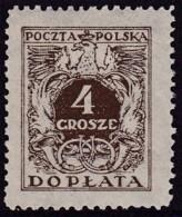POLAND 1934 Postage Due Fi D67I Mint Never Hinged - Impuestos