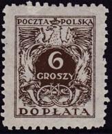 POLAND 1934 Postage Due Fi D68I Mint Never Hinged - Impuestos