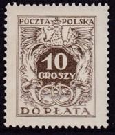 POLAND 1934 Postage Due Fi D69II Mint Never Hinged - Impuestos