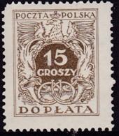 POLAND 1934 Postage Due Fi D70II Mint Never Hinged - Impuestos