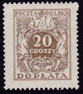 POLAND 1934 Postage Due Fi D71II Mint Never Hinged - Impuestos