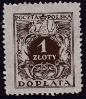 POLAND 1934 Postage Due Fi D76I Mint Never Hinged - Impuestos