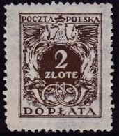 POLAND 1934 Postage Due Fi D77I Mint Never Hinged - Impuestos
