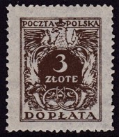 POLAND 1934 Postage Due Fi D78I Mint Never Hinged - Impuestos