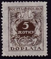 POLAND 1934 Postage Due Fi D79I Mint Never Hinged - Impuestos