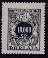 POLAND 1924 Postage Due Fi D54 Mint Never Hinged - Impuestos