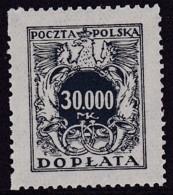 POLAND 1924 Postage Due Fi D56 Mint Never Hinged - Impuestos