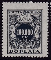 POLAND 1924 Postage Due Fi D58 Mint Never Hinged - Impuestos