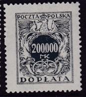 POLAND 1924 Postage Due Fi D59 Mint Never Hinged - Impuestos