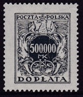 POLAND 1924 Postage Due Fi D61 Mint Never Hinged - Impuestos