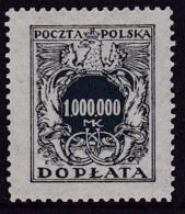 POLAND 1924 Postage Due Fi D62 Mint Never Hinged - Impuestos