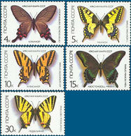 1987 USSR Stamps Butterflies 5V MNH - Papillons