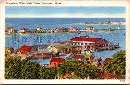 Massachusetts Nantucket Steamboat Wharf From Tower - Nantucket