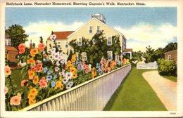 Massachusetts Nantucket Homestead On Hollyhock Lane Showing Captain's Walk - Nantucket