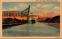 Minnesota Duluth-Superior Harbor Coal Docks Curteich - Duluth