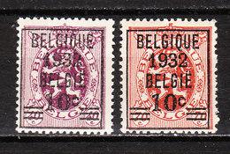 333/34**  Lion Héraldique Avec Préoblitération - Série Complète - MNH** - COB 28 - Vendu à 13.50% Du COB!!!! - Unused Stamps