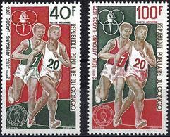 Congo (Braz) 1973 - Mi 407/08 - YT Pa 182/83 ( African Games, Lagos ) MNH** Airmail - Congo - Brazzaville