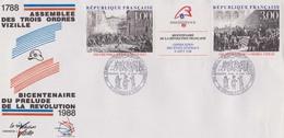 Enveloppe Bicentenaire Du Prelude De La Revolution 1988 - 18/06/1988 Vizille - 1980-1989