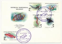 MADAGASCAR - 2 Enveloppes FDC - 6 Valeurs (dont BF) Poissons - 1990 - Madagascar (1960-...)